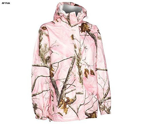Realtree Storm Seeker AP Pink Camo Zip Up Hoodie Rain Jacket Size Sm/Med or