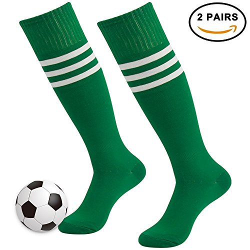 3street Knee-High Athletic Solid/Striped Soccer Tube Socks for Men and