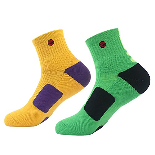 3street Mens's Coolmax Athletic Socks Cushioned Quarter Crew Socks 1-4