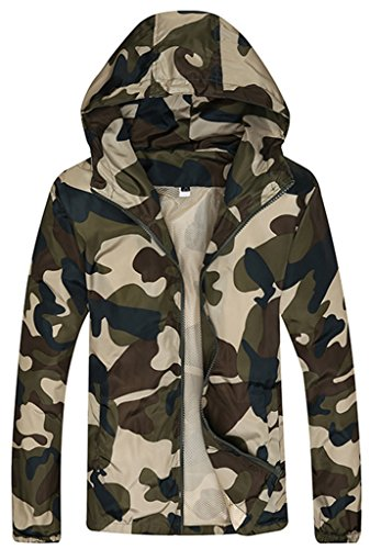 Sawadikaa Men's Military Super Lightweight Running Jacket Quick Dry Skin Windbreaker Sun Protect