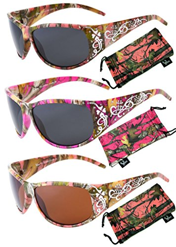 9edb83475b73 Hornz Women s Pink   Hot Pink-Purple Camouflage Polarized Sunglasses ...