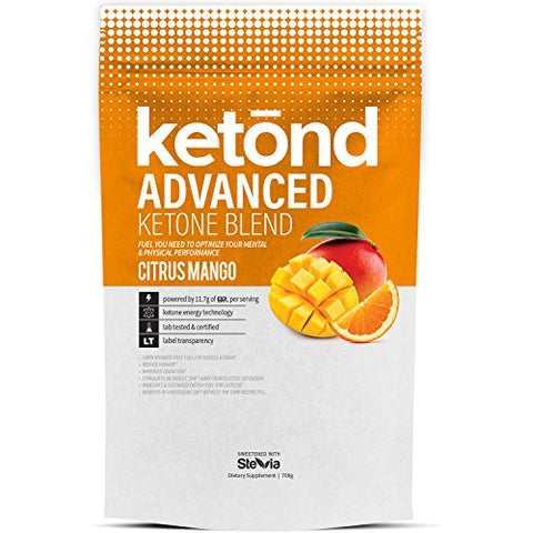 Ketond Advanced Ketone Blend - 30 Servings Exogenous Ketone Supplement 11.7g of BHB (Beta-Hydroxybutyrate) Salts to Lose Weight, Increase Energy &