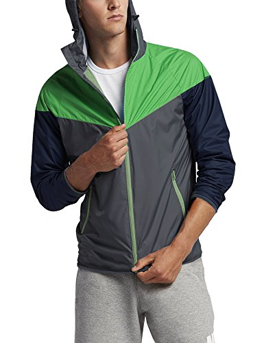 COOFANDY Men's Waterproof Running Jacket Lightweight Cycling Jacket Packable