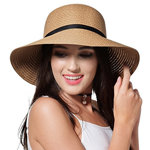 eab571f10 Sun Straw Hat for Women Girls Travel Packable Cap with Chin - Discount  Sporting Store