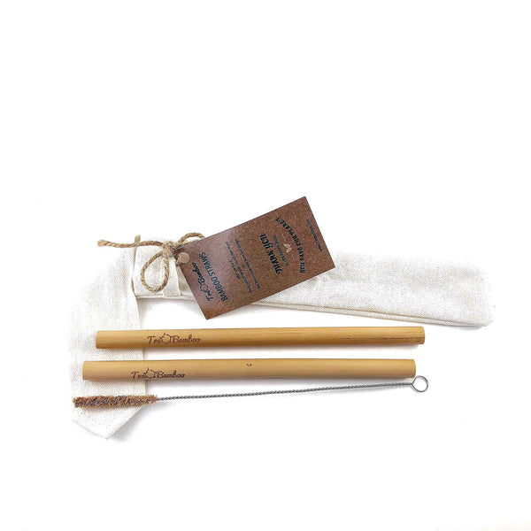 Bamboo Straws 2-pack (20 Min. Order) - TreO Bamboo - Eco-friendly, Natural and Handcrafted Product