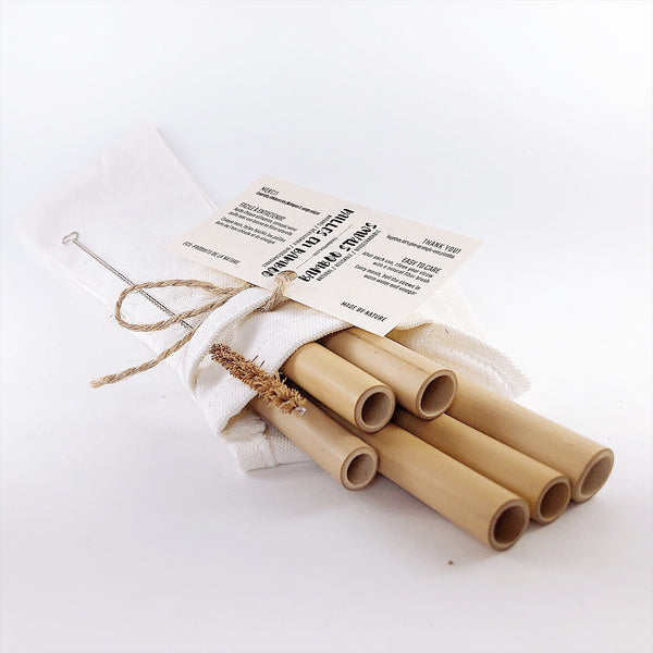 Bamboo Straws 6-pack - TreO Bamboo - Eco-friendly, Natural and Handcrafted Product