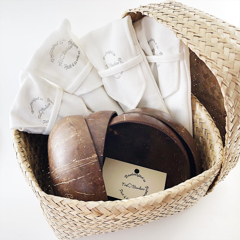 Zero Waste Kit Family Combo with FREE Bamboo Basket and FREE Shipping - TreO Bamboo - Eco-friendly, Natural and Handcrafted Product