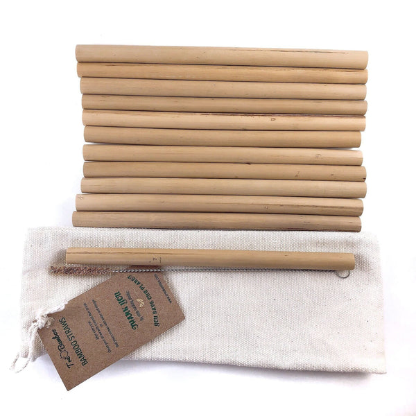 Bamboo Straws 12-pack (20 Min. Order) - TreO Bamboo - Eco-friendly, Natural and Handcrafted Product