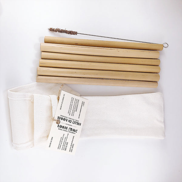 Bamboo Straws 6-pack (20 Min. Order) - TreO Bamboo - Eco-friendly, Natural and Handcrafted Product