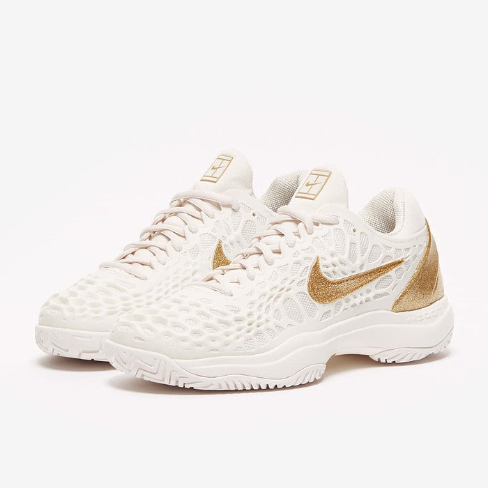 Nike Women's Air Zoom Cage 3 HC Phantom/Metallic Gold 918199007