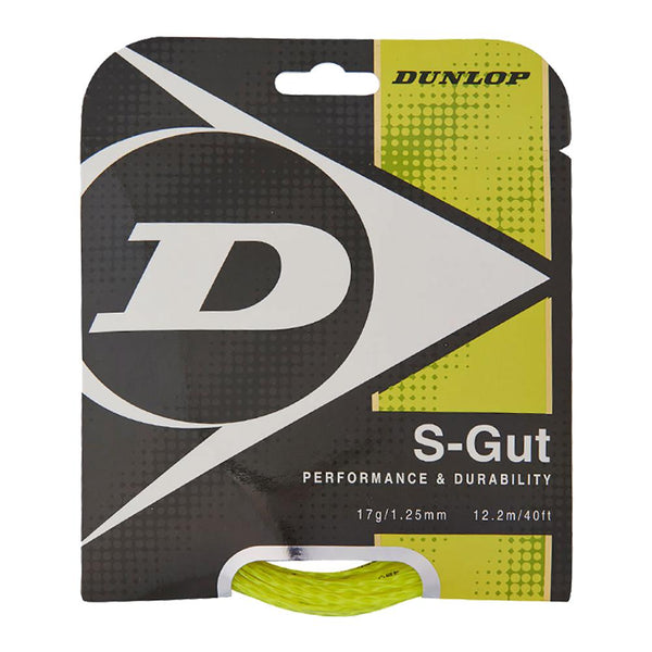 Dunlop S-Gut 17G Yellow Tennis String