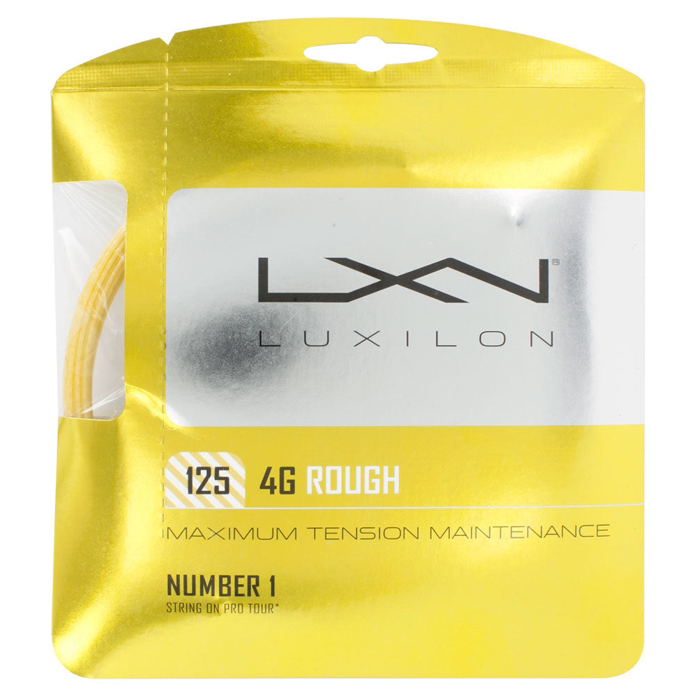 Luxilon 4G Rough 125 16L Tennis String Gold