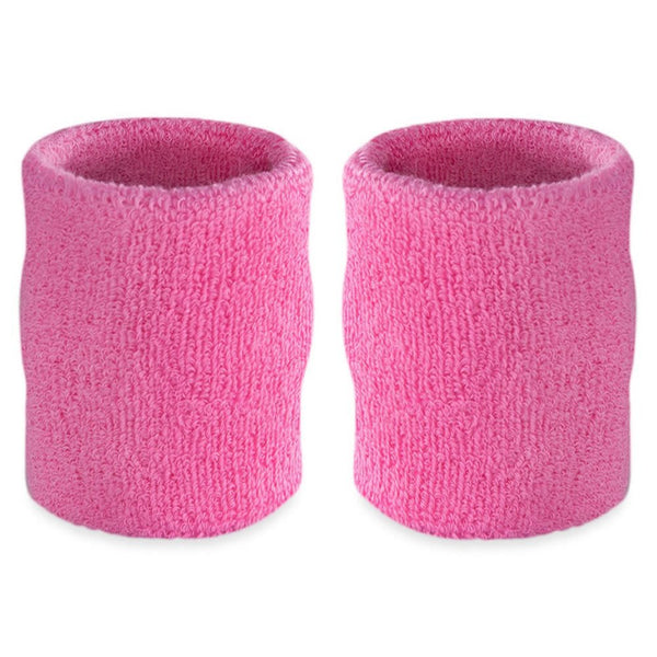 Nu Bright Pink Long Wristbands, 4inches, 2pk