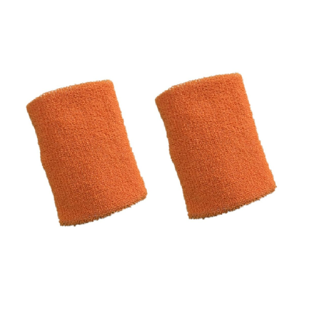 Nu Orange Long Wristbands, 4inches, 2pk