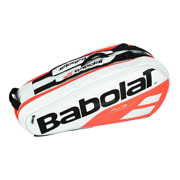 Babolat Pure 6 Pack Tennis Bag White and Red