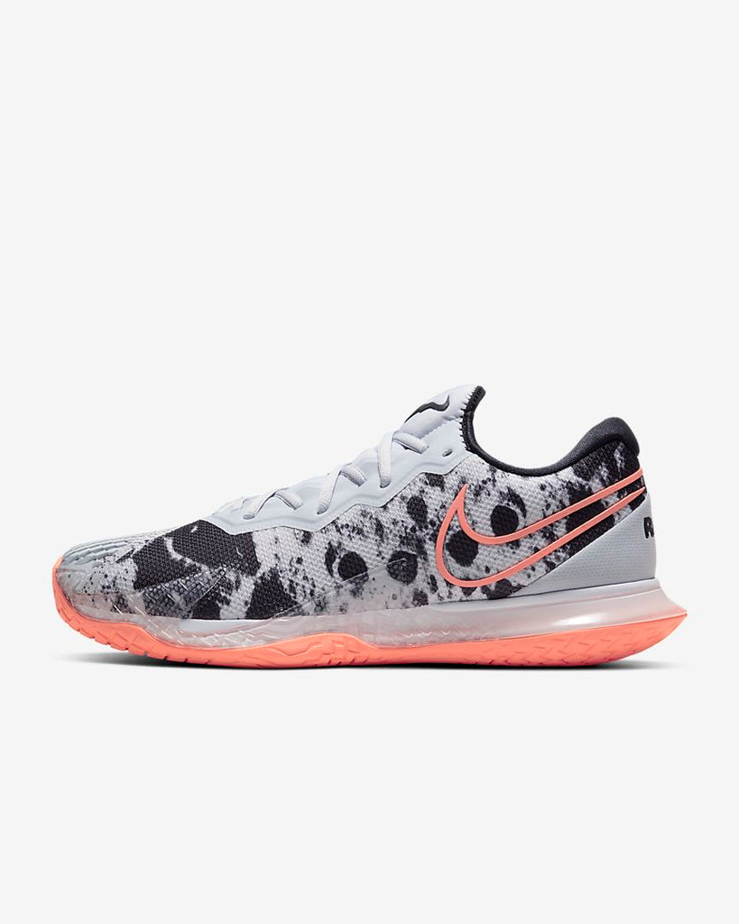 Nike Mens Air Zoom Vapor Cage 4 Sky Grey/White/Black/Bright Mango
