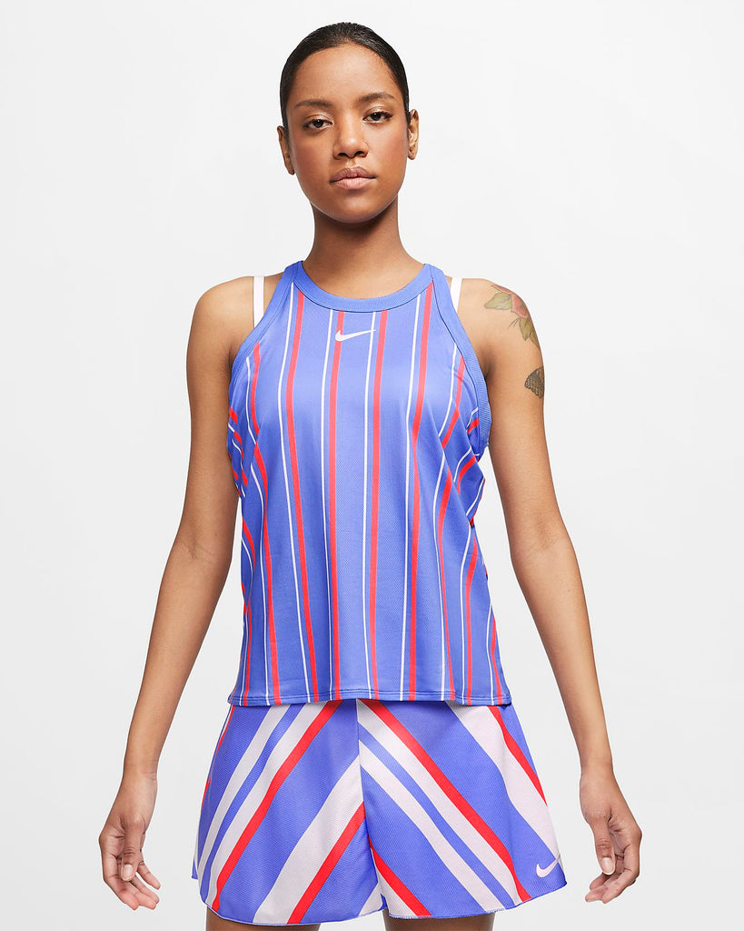 Nike Women's Court Print Tank Royal Pulse/ White