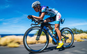 woman triathlon bike racer