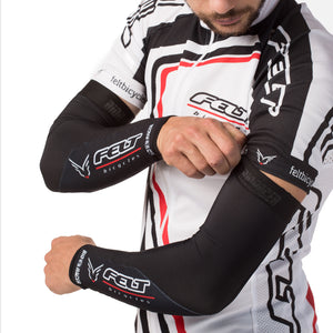 ARM WARMERS WHT BIO-RACER