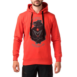 HOODY CALIGRIZZLY RED