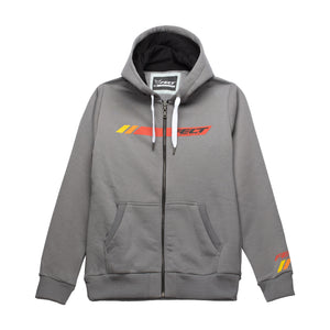 HOODY ZIPPER GRAPHIC W GRY