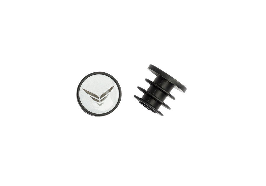 BAR END PLUGS F WING LOGO