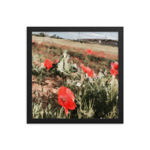 Load image into Gallery viewer, The Camino Poppy Framed poster [Camino Collection]