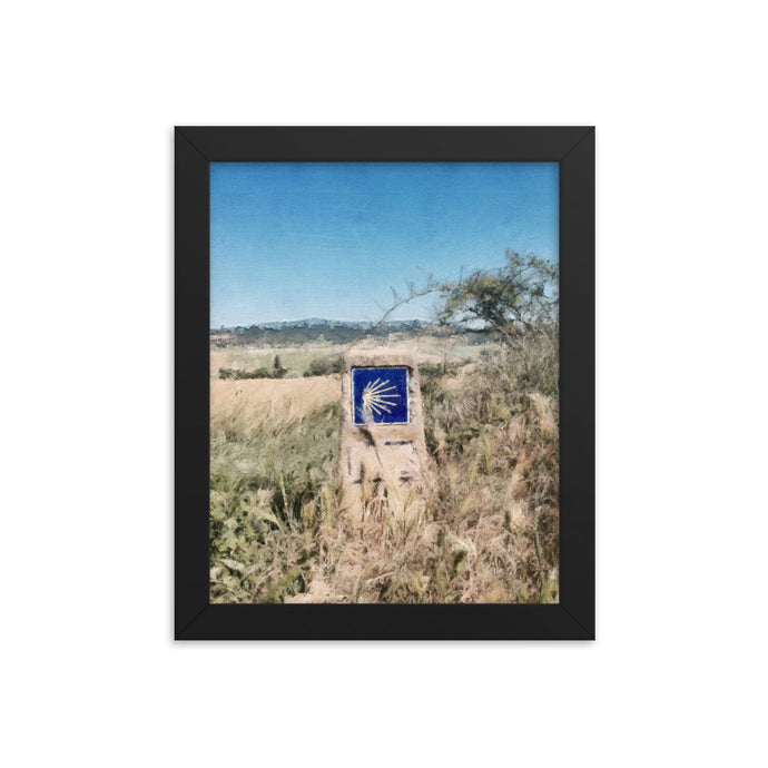 Camino Marker Framed poster [Camino Collection]