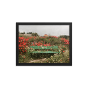 Camino Bench Framed poster [Camino Collection]