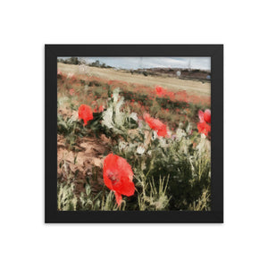The Camino Poppy Framed poster [Camino Collection]