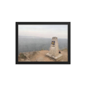 Finisterre Framed poster [Camino Collection]