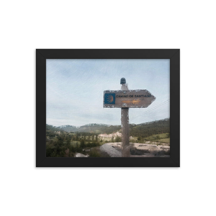 Camino Sign Framed poster [Camino Collection]