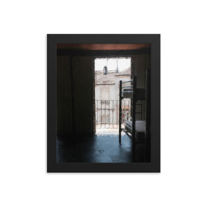 Albergue in Sarria Framed poster [Camino Collection]
