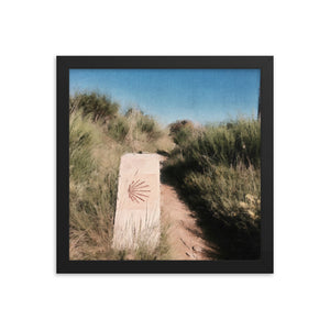Camino Marker 2.0 Framed poster [Camino Collection]