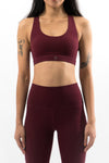 Sculpt Sports Bra Burgundy
