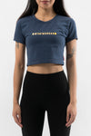 Revive Crop Top Navy