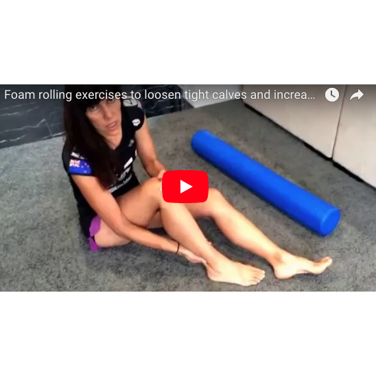 Foam rolling exercises to loosen tight calves for runners .