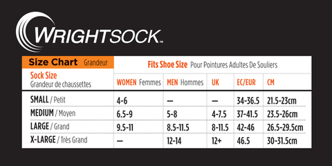 wrightsock size guide