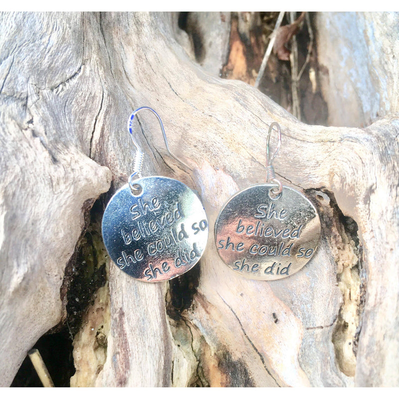 She believed she could earrings - Lisa Tamati - Sports Jewellery