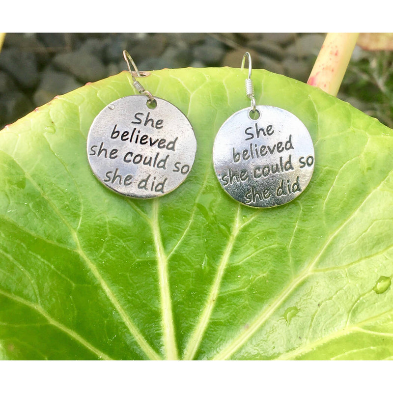 She believed she could so she did earrings - Lisa Tamati Jewellery