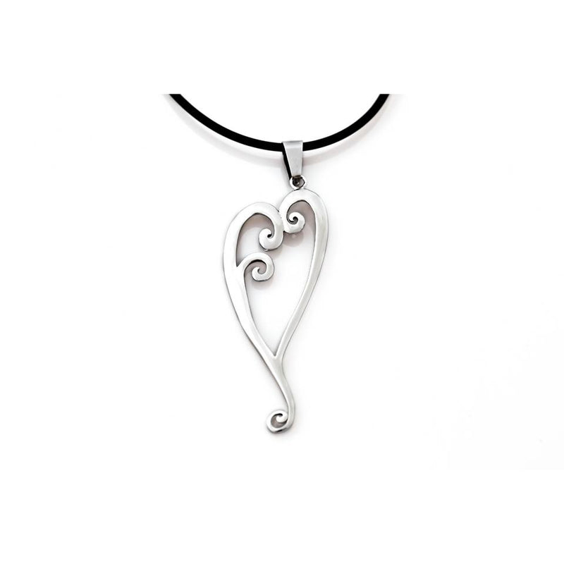 Whanau - family heart necklace - Maori Jewellery Lisa Tamati