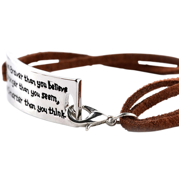 """You are Brave, Smart and Strong"" Bracelet"
