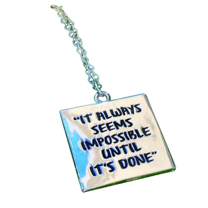 it always seems impossible until its done necklace
