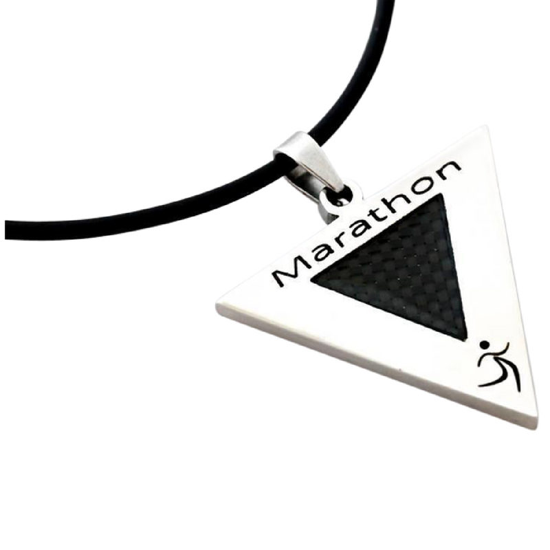 marathon necklace pendant