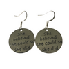 Earrings - sterling silver hooks - motivational jewellery - Lisa Tamati