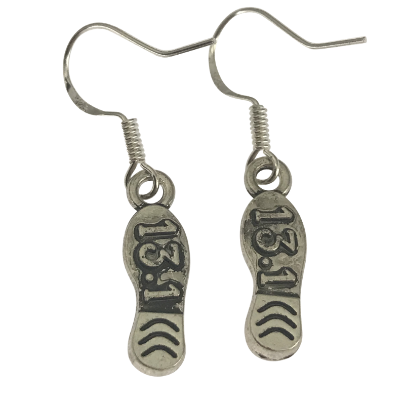half marathon earrings