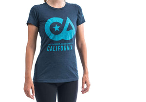 """Designed in CA"" Felt T-Shirt Dark Blue - Women's"