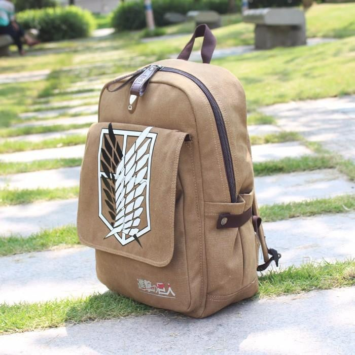 Scout Regiment Canvas Backpack [Attack On Titan] - AnimeLootStore, Anime Merchandise