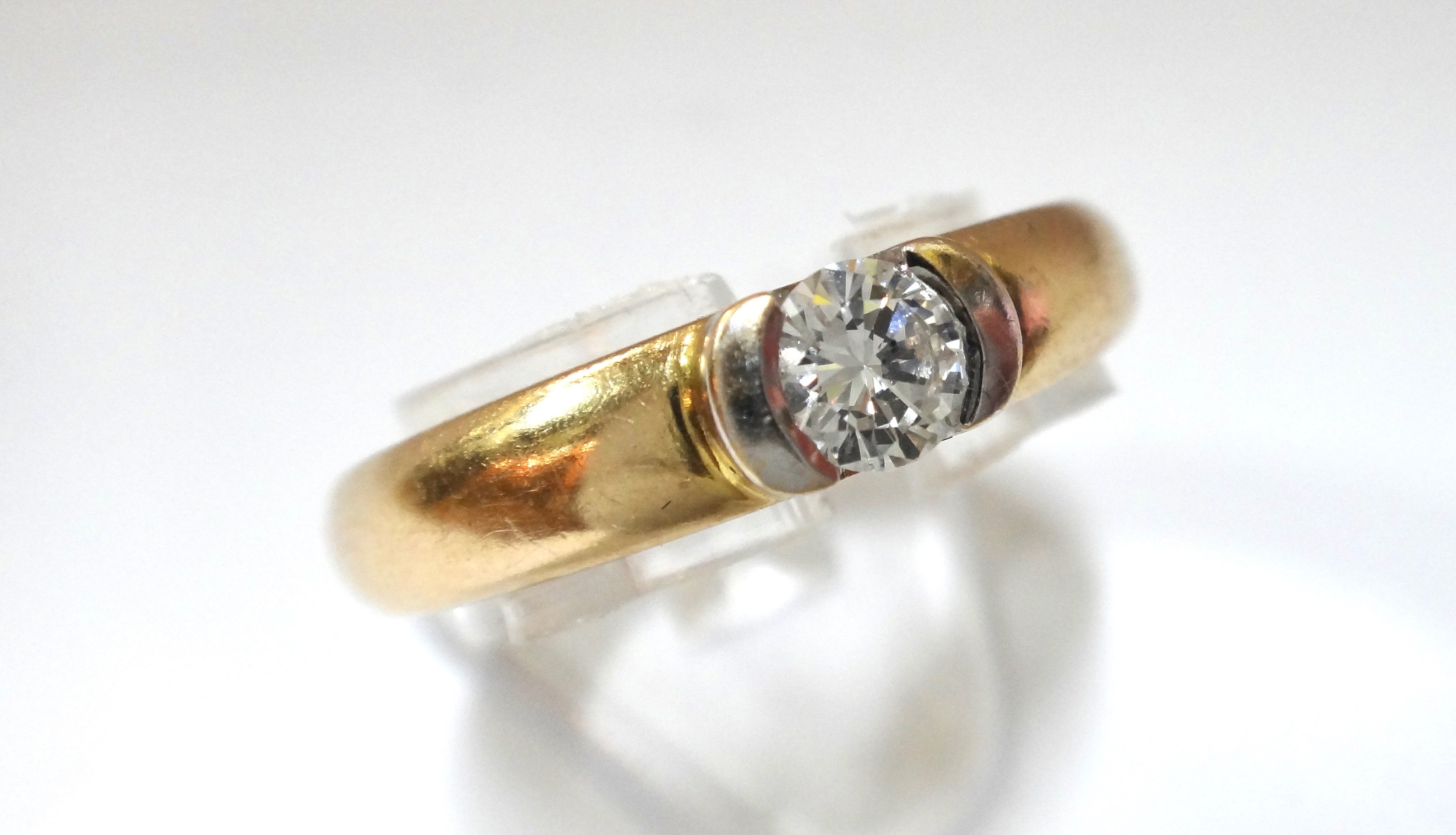 14CT Gold & 1/4 Carat Diamond Solitaire Ring