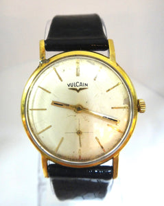 Vintage 18CT GOLD Vulcain Grand Prix Manual Wind Swiss Wrist Watch